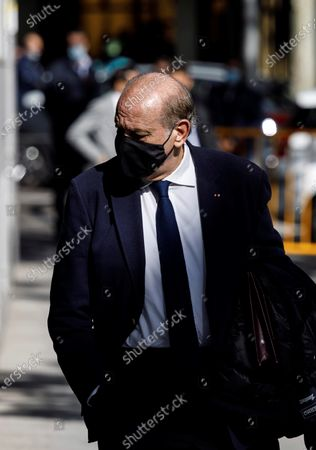 Former Home Affairs minister Jorge Fernandez Diaz at his departure to the National Court in Madrid, Spain, 30 October 2020 where he will be judge as accused in 'Kitchen' case, an allegedly illegal spying operation against the former Popular Party treasurer Luis Barcenas. EFE/Victor Lerena