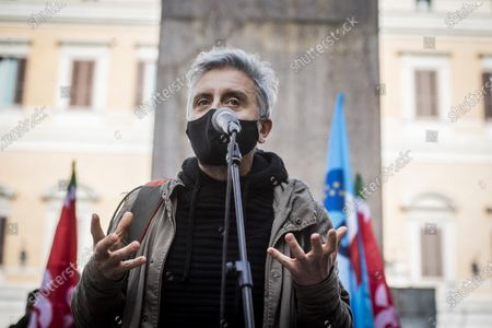 Editorial image of Culture industry workers protest against anti-coronavirus measures, Rome, Italy - 30 Oct 2020