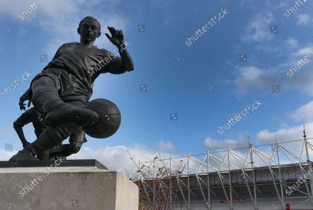 Stock Photo of The Sir Stanley Matthews statue