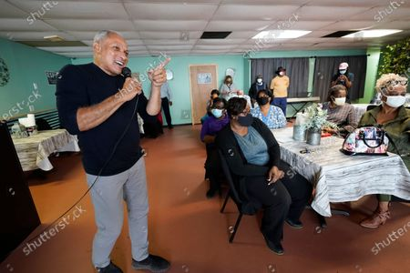 Democrat Mike Espy speaks before supporters at Da Soul Food Palace, in Belzoni, Miss., about improving rural health care and developing jobs as he kicked off his final campaign push for the U.S. Senate with a bus tour of the state, in Yazoo City, Miss. In a rematch of a 2018 special election, Espy is trying to unseat Republican Sen. Cindy Hyde-Smith, the first woman to represent the state in Congress. Espy also faces Libertarian candidate Jimmy Edwards on the Nov. 3, 2020 ballot