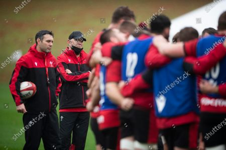 Wales Rugby Training - 30 Oct 2020 에디토리얼 사진