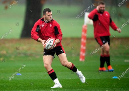 Gareth Davies during training.