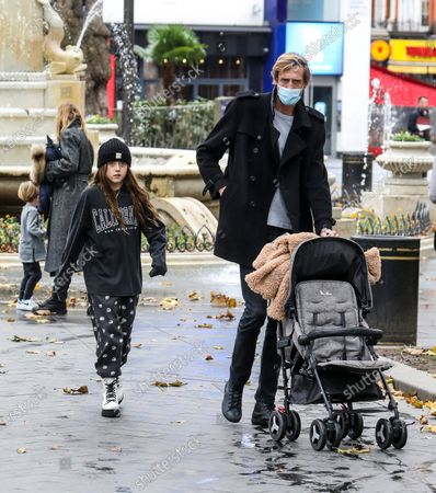 Editorial picture of Abbey Clancy and Peter Crouch out and about, London, UK - 30 Oct 2020