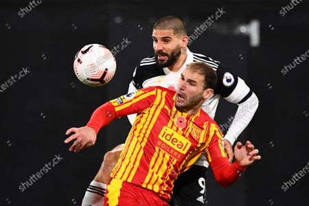 Editorial image of Fulham v West Bromwich Albion, Premier League, Football, Craven Cottage, London, UK - 2 Nov 2020