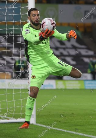 Rui Patricio of Wolverhampton in action during the English Premier League soccer match between Wolverhampton Wanderers and Crystal Palace in Wolverhampton, Britain, 30 October 2020.