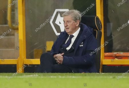 Crystal Palace's manager Roy Hodgson during the English Premier League soccer match between Wolverhampton Wanderers and Crystal Palace in Wolverhampton, Britain, 30 October 2020.