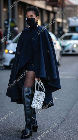 Editorial photo of Street style, Spring Summer 2021, Milan Fashion Week, Italy - 27 Sep 2020