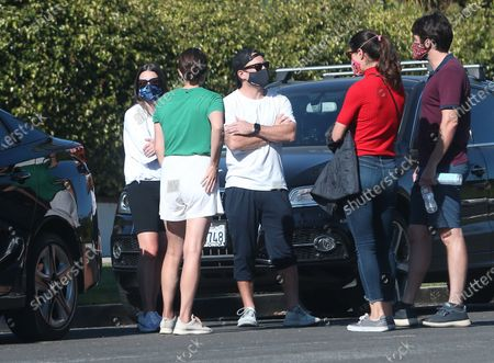 Lea Michele and Zandy Reich out and about with some friends in Santa Monica