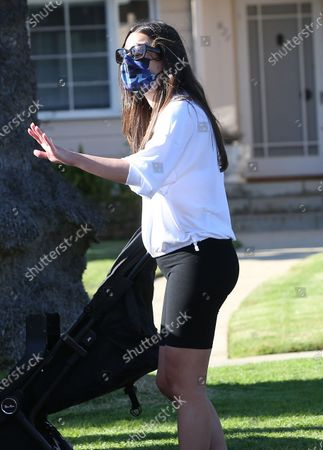 Lea Michele out and about with some friends in Santa Monica