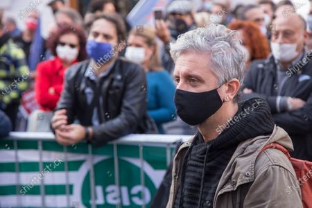 Editorial photo of Protest of Entertainment Workers in Rome, Roma, RM, Italy - 30 Oct 2020