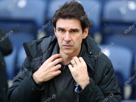 Birmingham City manager Aitor Karanka; Deepdale Stadium, Preston, Lancashire, England; English Football League Championship Football, Preston North End versus Birmingham City.