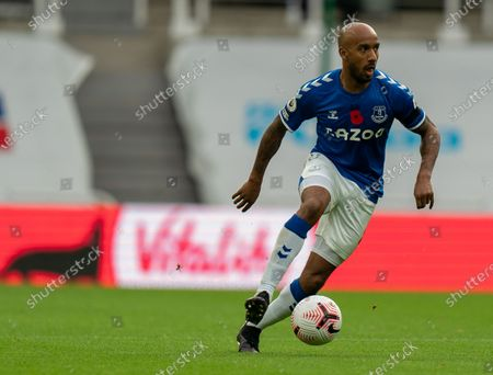 Fabian Delph on the ball for Everton; St James Park, Newcastle, Tyne and Wear, England; English Premier League Football, Newcastle United versus Everton.