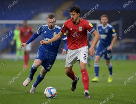Freddie Sears of Ipswich Town and Perry Ng of Crewe Alexandra - Ipswich Town v Crewe Alexandra, Sky Bet League One, Portman Road, Ipswich, UK - 31st October 2020Editorial Use Only - DataCo restrictions apply
