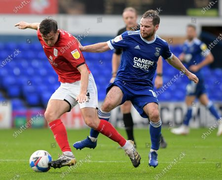 Alan Judge of Ipswich Town and Perry Ng of Crewe- Ipswich Town v Crewe Alexandra, Sky Bet League One, Portman Road, Ipswich, UK - 31st October 2020