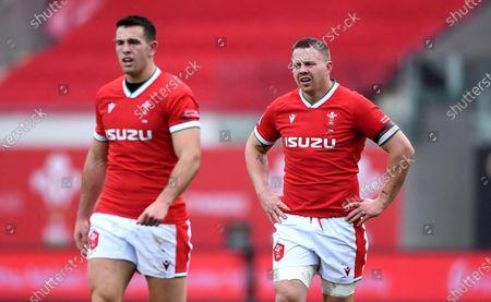 Owen Watkin and James Davies of Wales.