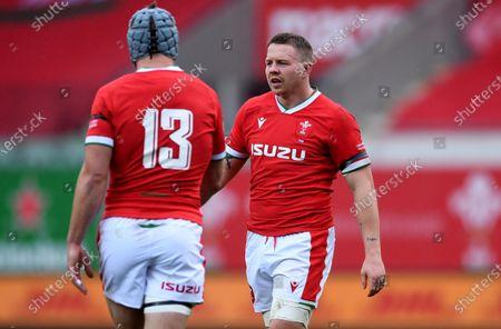 Jonathan Davies and James Davies of Wales.
