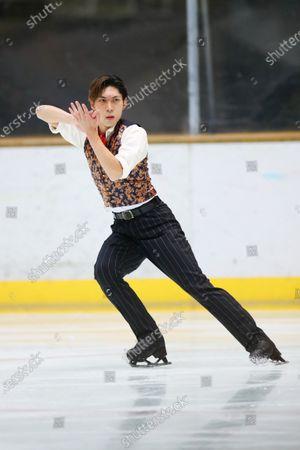 Stock Photo of Keiji Tanaka - Figure Skating :  2020 West Japan Figure Skating Championships  Men's Free Skating  at Kyoto Aquarena, Kyoto, Japan.