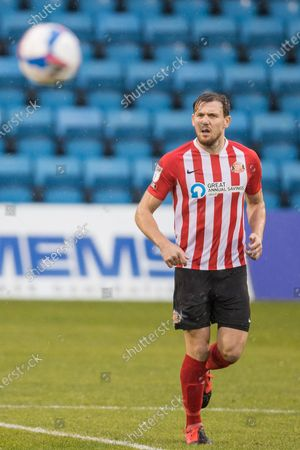 Charlie Wyke, Forward with Sunderland AFC (9) during the EFL Sky Bet League 1 match between Gillingham and Sunderland at the MEMS Priestfield Stadium, Gillingham