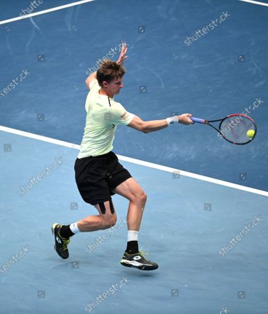 Kevin Anderson of South Africa in action during his semi final match against Andrey Rublev of Russia at the Erste Bank Open ATP tennis tournament in Vienna, Austria, 31 October 2020.