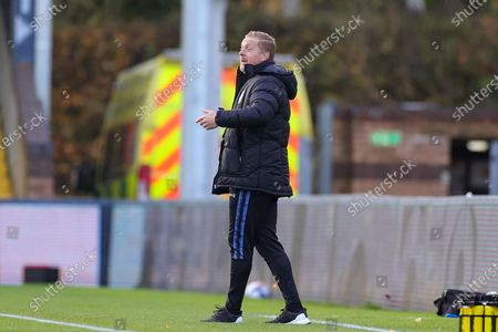 Stock Image of Sheffield Wednesday Manager Garry Monk during the EFL Sky Bet Championship match between Wycombe Wanderers and Sheffield Wednesday at Adams Park, High Wycombe