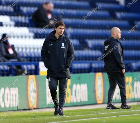Birmingham City manager Aitor Karanka on the sidelines during the game