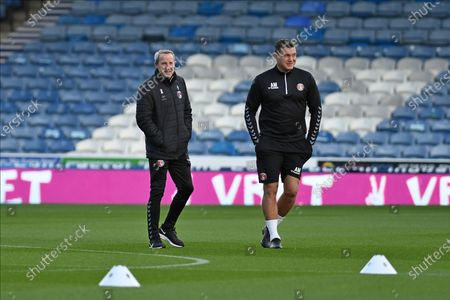Charlton Athletic Manager Lee Bowyer and Goalkeeping Coach Andy Marshall before the EFL Sky Bet League 1 match between Portsmouth and Charlton Athletic at Fratton Park, Portsmouth
