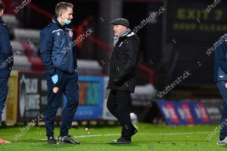 Grimsby Town F.C. Manager Ian Holloway not happy at the final whistle during Stevenage vs Grimsby Town, Sky Bet EFL League 2 Football at the Lamex Stadium on 31st October 2020