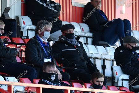 Grimsby Town F.C. Manager Ian Holloway sits in the stands during Stevenage vs Grimsby Town, Sky Bet EFL League 2 Football at the Lamex Stadium on 31st October 2020