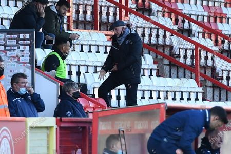 Grimsby Town F.C. Manager Ian Holloway in the stands during Stevenage vs Grimsby Town, Sky Bet EFL League 2 Football at the Lamex Stadium on 31st October 2020