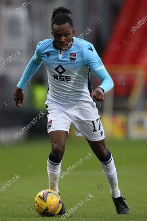 Regan Charles-Cook during the Scottish Premiership match between Dundee United and Ross County at Tannadice Park, Dundee