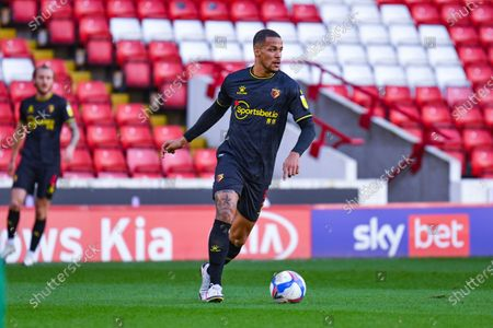 Watford defender William Troost-Ekong (5) in action during the EFL Sky Bet Championship match between Barnsley and Watford at Oakwell, Barnsley