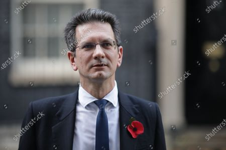 Steve Baker MP speaks to the media about the prospect of a new lockdown after leaving 10 Downing Street. Prime Minister Boris Johnson is expected to give a press conference this afternoon amid speculation that a nationwide lockdown is imminent to slow the spread of COVID-19.