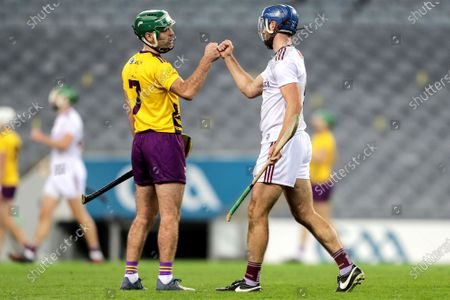 Galway vs Wexford. Wexford's Shaun Murphy congratulates Johnny Coen of Galway