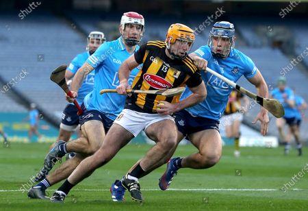 Kilkenny vs Dublin. Kilkenny's Billy Ryan is tackled by Eoghan O'Donnell of Dublin