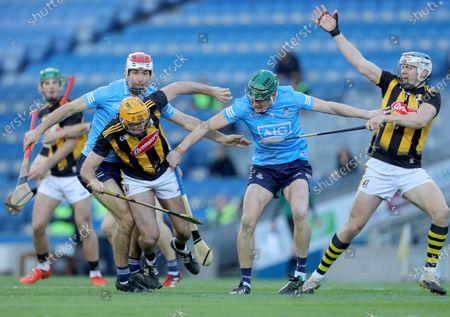 Stock Picture of Kilkenny vs Dublin. Kilkenny's Billy Ryan is tackled by James Madden of Dublin
