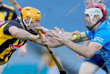 Stock Photo of Kilkenny vs Dublin. Kilkenny's Billy Ryan is tackled by Paddy Smyth of Dublin