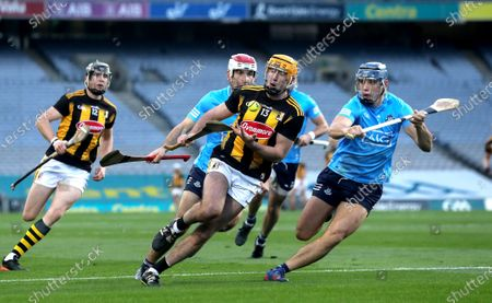 Stock Image of Kilkenny vs Dublin. Kilkenny's Billy Ryan is tackled by Eoghan O'Donnell of Dublin