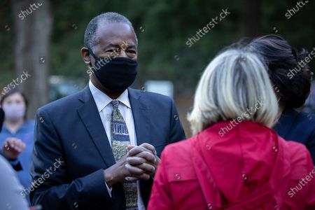 Secretary of HUD Dr. Ben Carson arrives at a get out the vote event in Atlanta on October 31st.