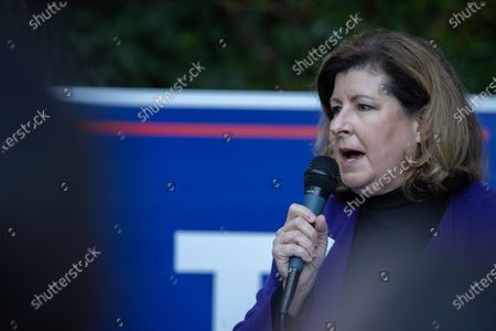 Former Congresswoman and Republican Congressional candidate Karen Handel (GA-06) talks to supporters during a get out the vote event with Dr. Ben Carson, Secretary of HUD, in Atlanta on October 31st.