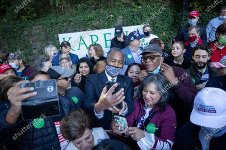 Stock Photo of Secretary of HUD Dr. Ben Carson greets supporters and takes at a get out the vote event in Atlanta on October 31st.