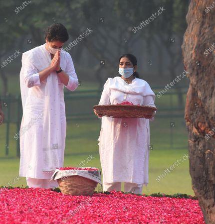 Editorial picture of Priyanka Gandhi Pays Tribute To Indira Gandhi On Her Death Anniversary, New Delhi, Delhi, India - 31 Oct 2020
