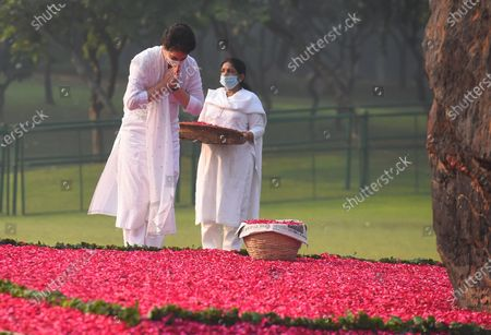 Editorial image of Priyanka Gandhi Pays Tribute To Indira Gandhi On Her Death Anniversary, New Delhi, Delhi, India - 31 Oct 2020