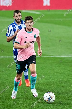 Sergi Roberto of FC Barcelona during the spanish league, LaLiga, football match played between CD Alaves v FC Barcelona at Mendizorroza Stadium on October 31, 2020 in Vitoria, Spain.