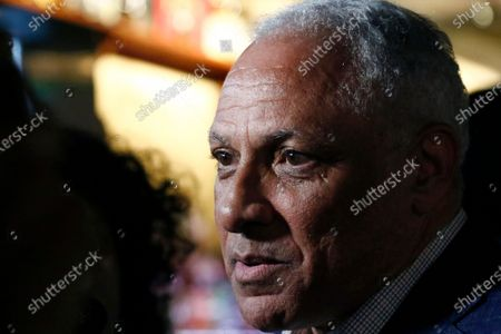 Mike Espy speaks to reporters in Jackson, Miss., after winning the Democratic nomination for a U.S. Senate race in Mississippi. A former congressman, Espy faces Republican incumbent U.S. Sen. Cindy Hyde-Smith and Libertarian candidate Jimmy Edwards on Nov. 3, 2020