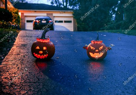 Editorial image of First COVID19 Halloween in Oakwood, Ohio, USA - 31 Oct 2020