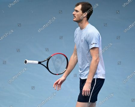 Jamie Murray of Britain reacts during the doubles final match against Lukasz Kubot of Poland and Marcelo Melo of Brazil at the Erste Bank Open ATP tennis tournament in Vienna, Austria, 01 November 2020.