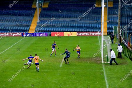 Clare vs Tipperary . Tipperary's Bill Maher scores a goal