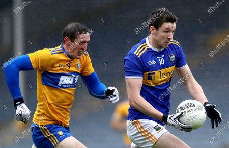 Clare vs Tipperary . Clare's Cathal O'Connor and Jack Kennedy of Tipperary