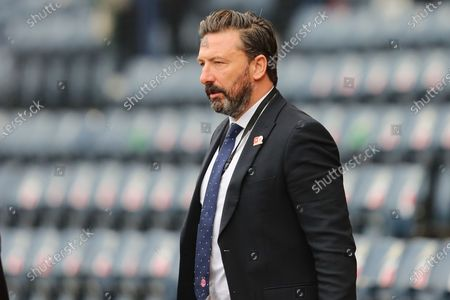 Aberdeen Manager Derek McInnes inspects the pitch during the William Hill Scottish Cup semi-final match between Celtic and Aberdeen at Hampden Park, Glasgow