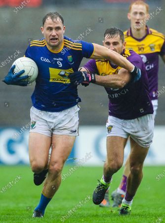 Stock Picture of Chadwicks Wexford Park, Newtown, Co.Wexford 1/11/2020. Wexford vs Wicklow. Wexford's Brian Malone and Dean Healy of Wicklow